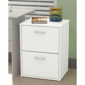 2 Drawer Baxter Filing Cabinet - White Home Office Study Storage Two Draw NEW