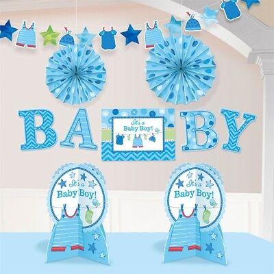 Baby Shower - Its a Boy - Raumdeko-Komplettset, 10 Teile, für Jungen Babypartys