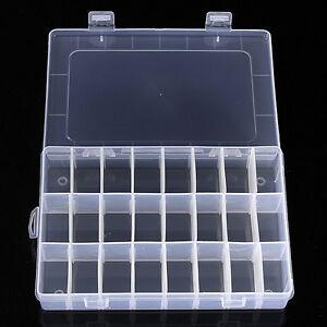 Caja de pl stico con 15 24 compartimentos organizador caja - Organizador de bolsas de plastico ...