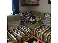 Colourful dfs corner sofa