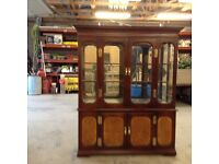 Antique glass and mahogany cabinet