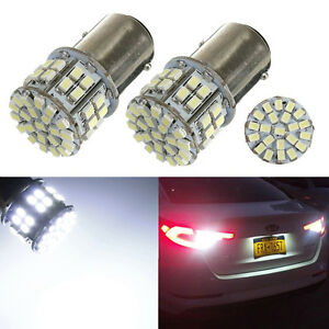 2x 1157 BAY15D T25 P21/5W 50 SMD 1206 LED Brake Turn Stop Tail Light Bulb White