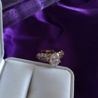 HUGE DIAMOND RING APPRAISED $ 21250.00 JUST DAYS AGO