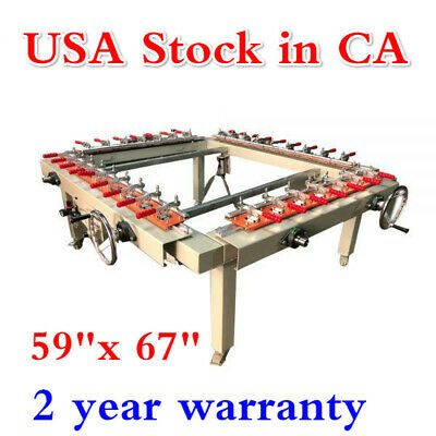Us 59x 67 Pneumatic Screen Stretcher High Precise Screen Printing Equipment