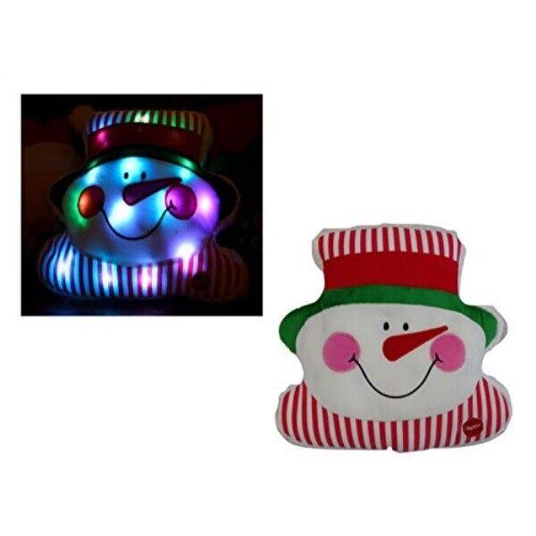 tache light up snowman pillow squishy cute festive winter holiday christmas dec