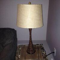 Rattan base table lamp & floor lamp
