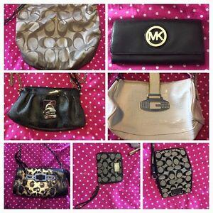 Coach purse, guess purse, Michael Kors wallet