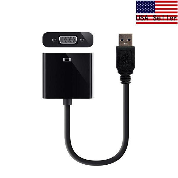USB 3.0 to VGA Video Graphic Card Display External Cable Adapter for Win 7/8