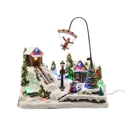 VILLAGGIO NATALIZIO CON PARACADUTISTA Addobbi Natale Decorazioni Neve 481339