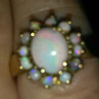 Multi stone Opal ring size 5(approx)