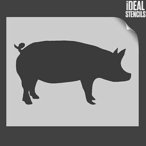 Pig-Forma-Plantilla-animales-de-granja-pared-decorativa-arte-manualidades