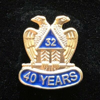 Masonic 32nd Degree 40 Year Lapel Pin (SR40-LP)