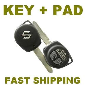 SUZUKI JIMNY VITARA SWIFT IGNIS ALTO 2 BUTTON REMOTE KEY FOB SHELL  + RUBBER PAD