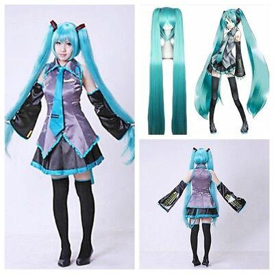 Hatsune Miku Kostüme (Vocaloid Hatsune Miku Video Spiel Cosplay Kostüme Bluse Rock Krawatte Gürtel DEU)