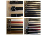 3 FOR £60 Largest Selection LV Gucci Hermes Versace Ferragamo Armani Designer belts Louis Vuitton