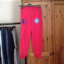 Superdry pink sweat pants XS