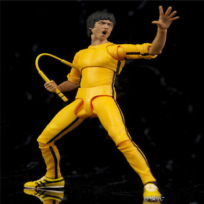 S H Figuarts Bruce Lee Dragon Yellow Track Classic Suit Action Figure New Toys