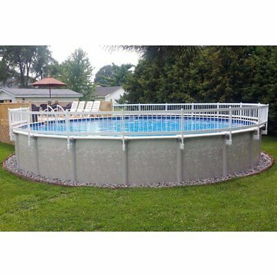 "Vinyl Works Base Kit A 24"" Resin Above Ground Pool Fence Kit, 8 Sections"