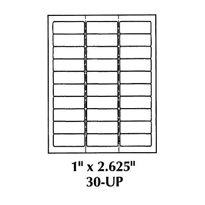 2 58 X 1 Shipping Labels - 30 Labels Per Page - 300 Shipping Labels