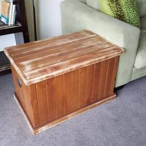 Timber Trunk Chest Blanket Box Distressed Finish Coogee Eastern Suburbs Preview