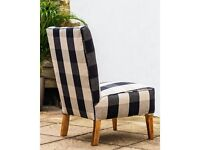 Atomic Occasional Chair - Black Buffalo Check