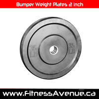 Olympic Bumper Weight Plates 2 Inch – Brand New