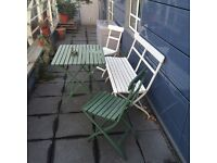 IKEA outdoor table, two chairs, bench