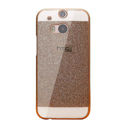 (Luxury Bling Glitter Rigid Plastic Hard Case Cover For HTC Mobile Phone)