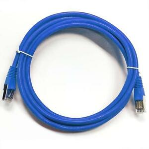 35 ft. Blue Cat6 550MHz STP Shielded Network Cable - Metal Connector - Blue