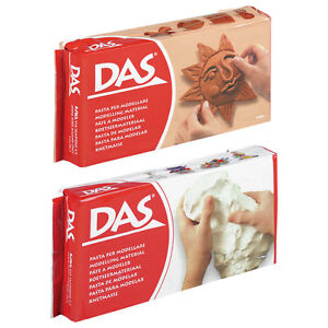 500g or 1kg das air drying modelling clay white terracotta for Craft porcelain air dry clay