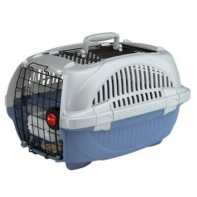Transportin Atlas 20 Deluxe Open perros gatos mediano azul IATA 57,6x37,4x33 cm segunda mano  El Zorongo