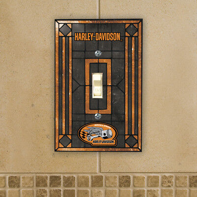 Art Glass Switch Cover (Harley Davidson