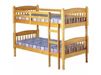 SOLID PINE BUNKBED, GOOD CONDITION