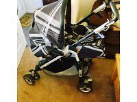 Pram, car seat, 2x isofix, from newborn till age 3
