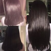 POSE D'EXTENSIONS DE CHEVEUX/HAIR EXTENSIONS