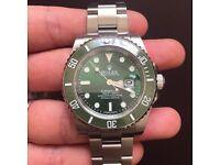 Rolex Submariner green ceramic bezel hulk model £165