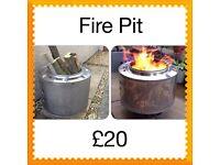 Patio heater, garden fire pit, wood burner