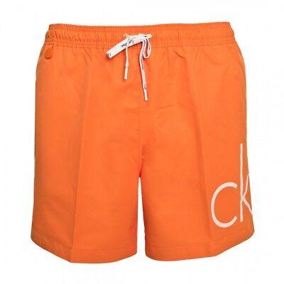 Calvin Klein Badehose Badeshort Beachwear Swimwear Herren Orange Neu mit Etikett