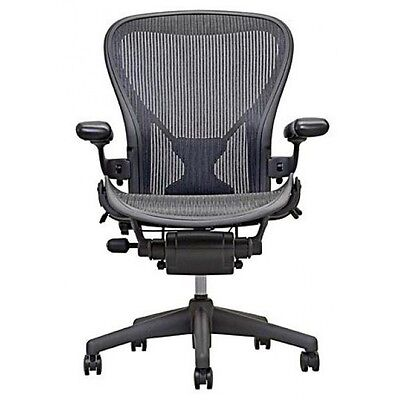 Herman Miller Size B Aeron Chairs Fully Loaded Adjustable W Posture Fit