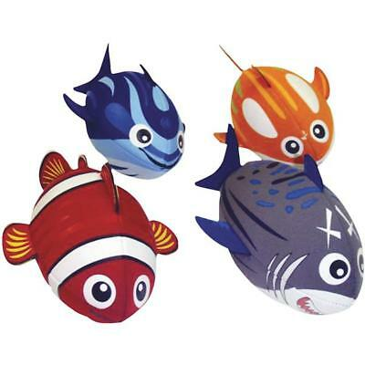 4 pk Summer Water Sports Assorted Designs ItzaFishBall Pool Toy