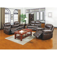 BRAND NEW 3 PC 5 RECLINING SOFA, LOVE SEAT AND CHAIR
