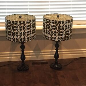Black and White Pair of lamps