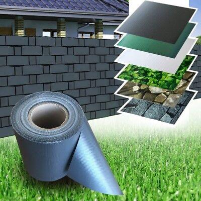 35m anthrazit PVC Sichtschutz Streifen Zaunfolie Doppelstabmatten Zaun Folie
