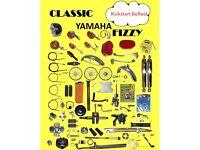 YAMAHA FSIE 50CC FIZZY PATTERN PARTS RING FOR DETAIL KICKSTART MOTORCYCLES BELFAST