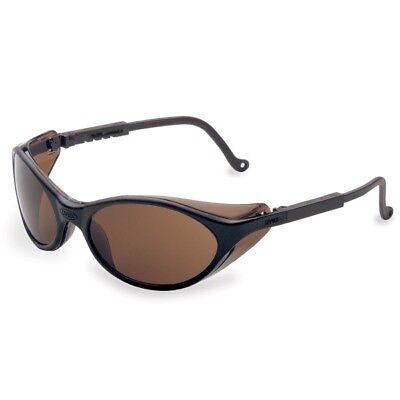 Uvex Bandit Safety Glasses With Brown Lens Black Frame