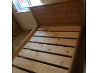 Solid wood chunky pine double bed brand new condition
