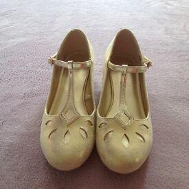 Monsoon Gold Shoes Size 3 Euro size 36