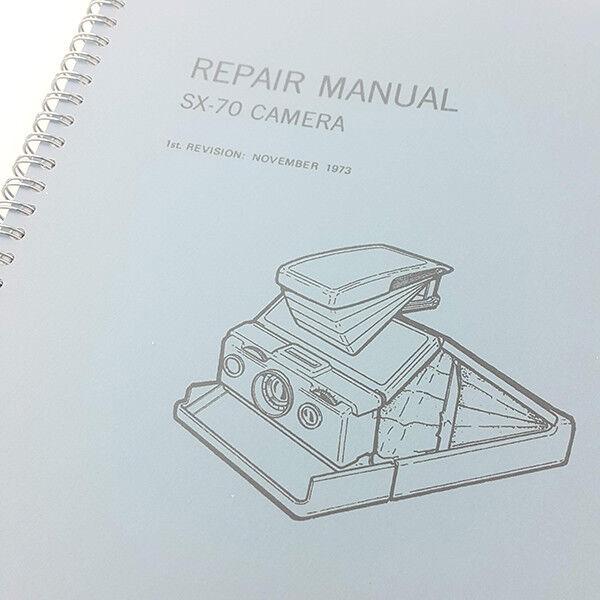 Polaroid SX-70 sx-70 sx70 instant film Camera Service & Repair Manual
