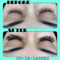 Eyelashes Extensions Classic, 3D and 5D volume