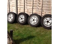 Ford transit mk6/7,4 wheels with tyres and wheel nuts